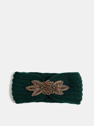 Zelená čelenka s ozdobou ve zlaté barvě Haily´s Mimi