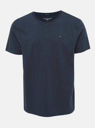 Tmavě modré pánské basic tričko Tommy Hilfiger