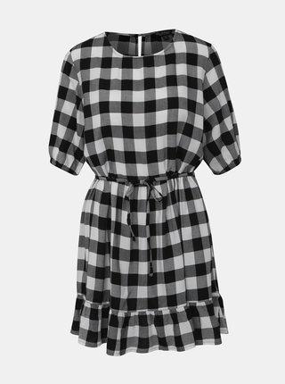 Bílo-černé kostkované šaty Miss Selfridge