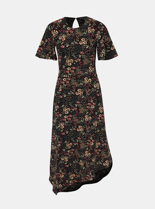 Černé květované šaty Miss Selfridge