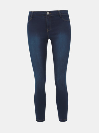 Tmavě modré super skinny fit džíny Dorothy Perkins Petite Frankie