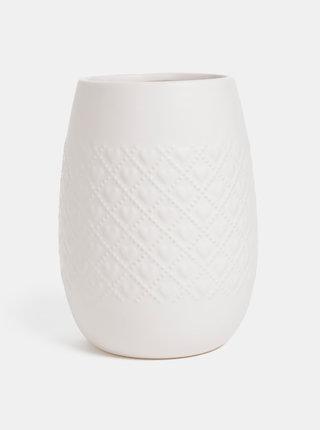 Biela vzorovaná váza Dakls