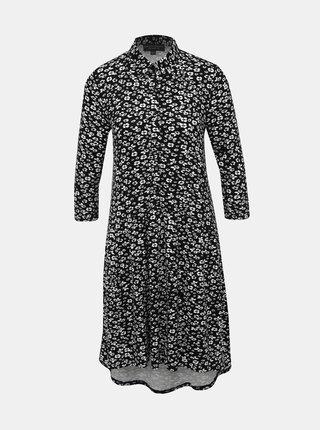 Čierne kvetované košeľové šaty Dorothy Perkins