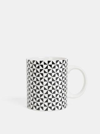 Čierno-biely vzorovaný hrnček Dakls