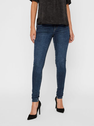 Modré slim fit rifle VERO MODA Lux