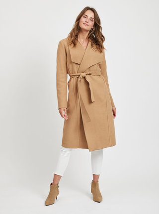 Béžový lehký kabát VILA Balis