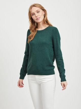 Tmavě zelený svetr VILA Ril