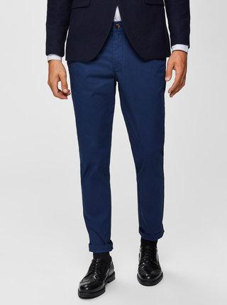 Modré slim fit kalhoty Selected Homme Yard