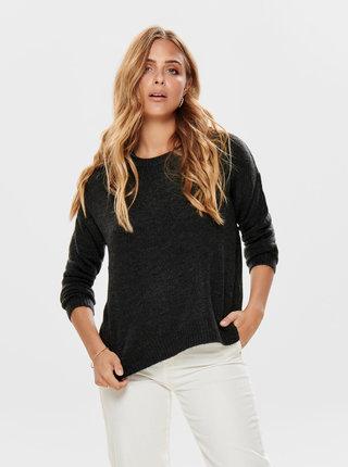 Tmavě šedý svetr Jacqueline de Yong Crea