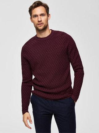 Vínový svetr Selected Homme Kent