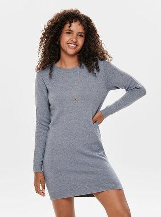 Šedé svetrové šaty Jacqueline de Yong Marco