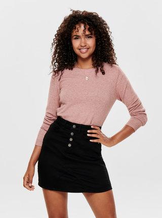 Růžový basic svetr Jacqueline de Yong Marco