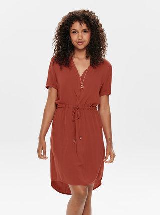 Cihlové šaty s krajkou Jacqueline de Yong Mason