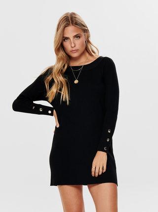 Čierne svetrové šaty ONLY Adalyn