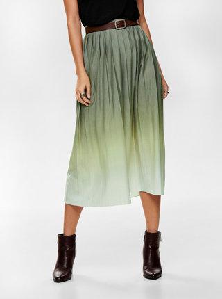 Šedá skládaná midi sukně ONLY Tia
