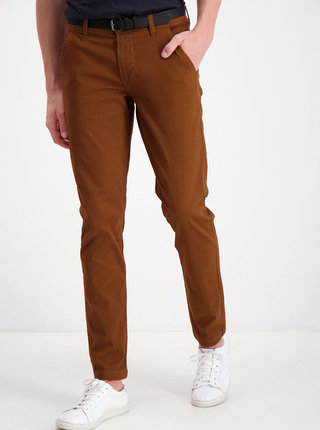 Hnědé  chino kalhoty Lindbergh
