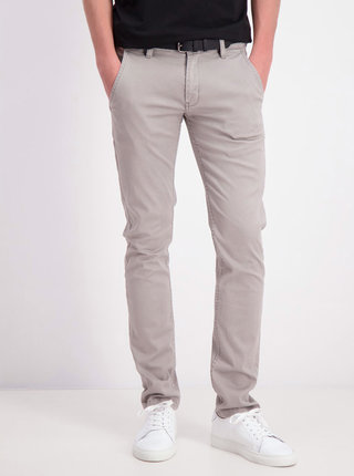 Světle šedé chino kalhoty Shine Original