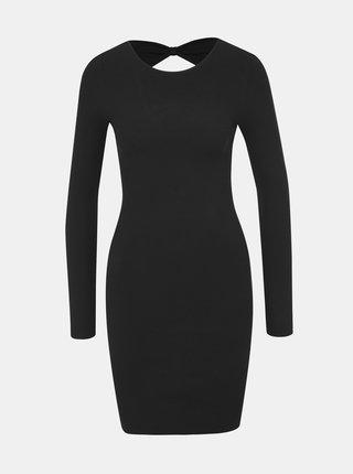 Černé svetrové šaty ONLY Neela