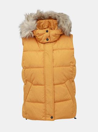 Žlutá prošívaná vesta ONLY North