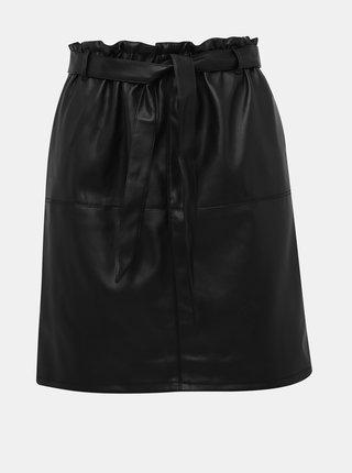 Černá koženková sukně ONLY Rigie