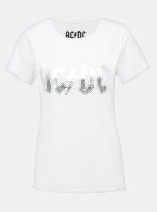Bílé tričko s potiskem Noisy May AC