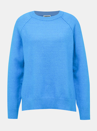 Modrý svetr s rozparkem Noisy May Mariana