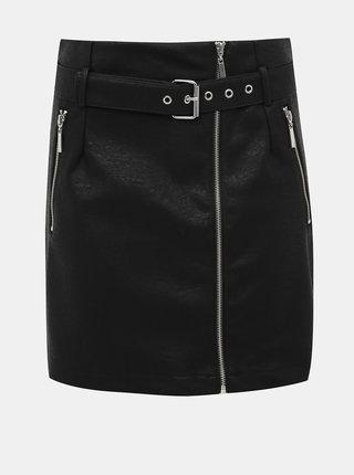 Černá koženková sukně Noisy May Wilma