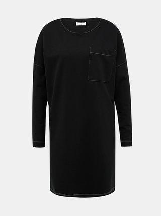 Čierne mikinové šaty Noisy May Kana