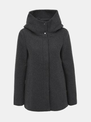 Šedý kabát s příměsí vlny VERO MODA Hyper