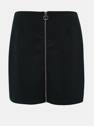 Černo-zelená kostkovaná minisukně VERO MODA Cisse
