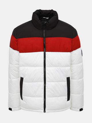 Bílá zimní prošívaná bunda Burton Menswear London