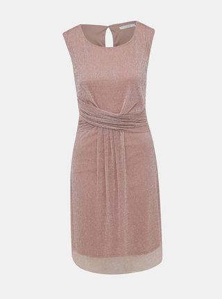 Rúžové metalické šaty VILA Amos