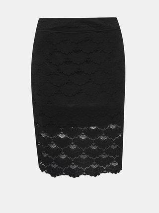 Černá krajková sukně VILA Lizette