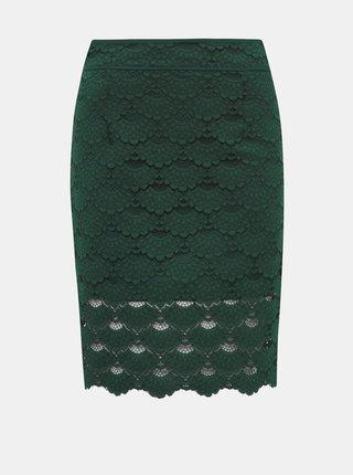 Zelená krajková sukně VILA Lizette