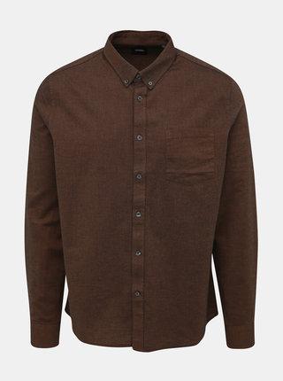 Hnědá košile Burton Menswear London