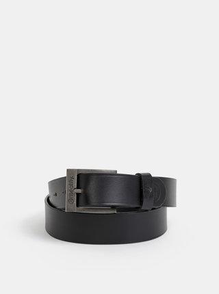 Černý pánský kožený pásek Meatfly Doppler