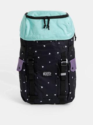 Černý dámský vzorovaný batoh Meatfly Scintilla 2 30 l