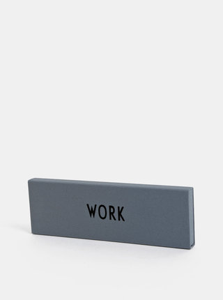 Šedé pouzdro na tužky Design Letters