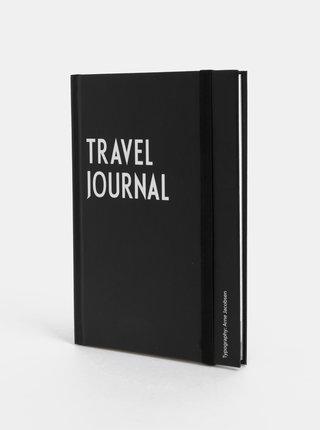 Černý cestovní deník Design Letters