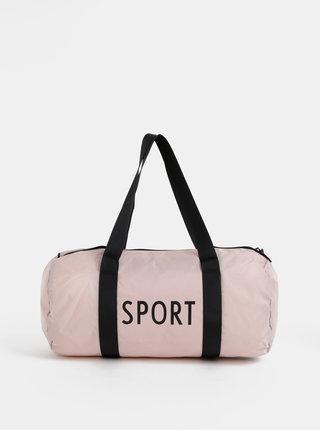 Starorůžová sportovní taška Design Letters