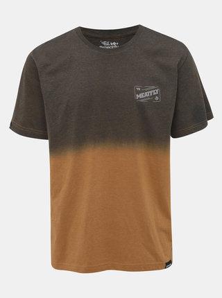 Hnedé pánske tričko Meatfly Slash
