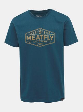 Modré pánske tričko s potlačou Meatfly Patrol
