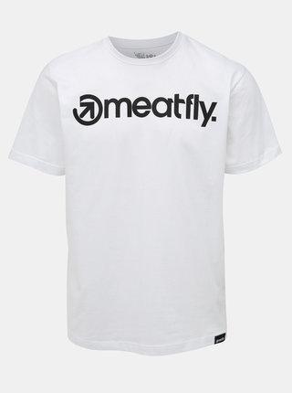 Bílé pánské tričko Meatfly Logo