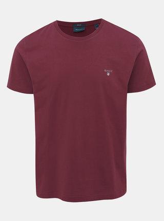 Vínové pánské basic tričko GANT The original