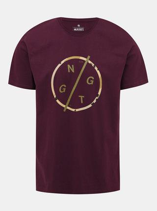 Vínové pánské tričko s potiskem NUGGET Radiant
