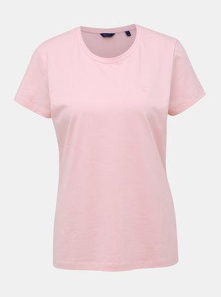 Rúžové dámske basic tričko GANT