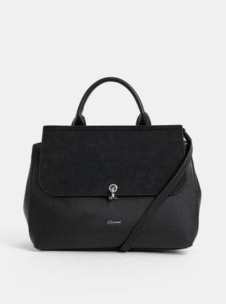 Čierna kabelka s detailmi v semišovej úprave Gionni Libourne