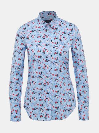 Modrá dámska kvetovaná košeľa GANT
