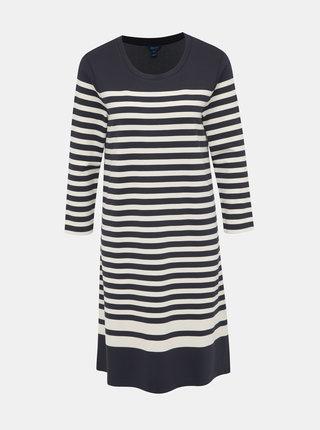 Krémovo-modré pruhované basic šaty GANT