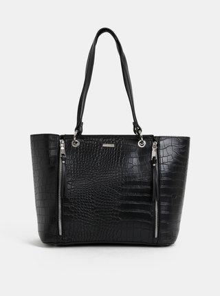 Čierna kabelka s krokodýlím vzorom Gionni Lisieux